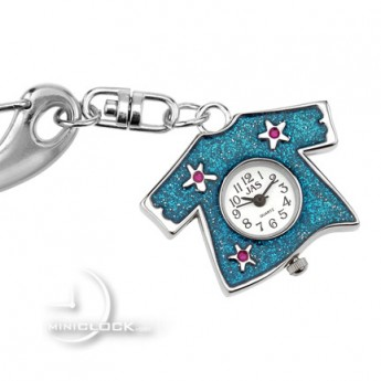 KEYCHAIN, Collectible Novelty Blue Sparkle Tshirt
